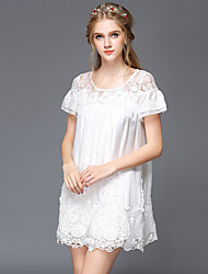 Large size women 2015 new fashion ladies dress sexy lace openwork lovely princess skirt Women's CLOTHING