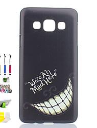 denture cas noir mat pc de téléphone et la prise de poussière stylet tiennent combinaison pour Samsung Galaxy a3