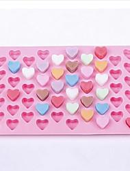 55 cavité cardiaque moule cake en silicone en forme de moule de chocolat (de couleur aléatoire)