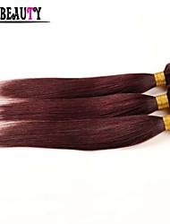 "3Pcs/Lot 10""-26"" Malaysian Virgin Hair Straight Cheap Human Hair 100g Bundles Burgundy Pure Color Queen Hair Products"