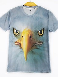 New Summer Men's T-shirt Animal 3D Print Short Sleeve T-shirt Sweater Shirt Tops(M-XXL)