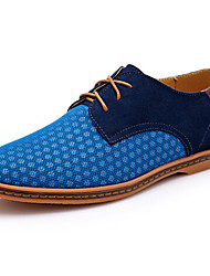 Men's Shoes Outdoor Synthetic/Tulle Oxfords Blue/Brown/Gray