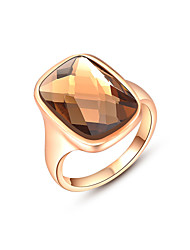 Z&X® Rose Gold Austrian Crystal Statement Rings Party/Daily