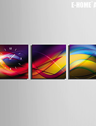 Color Art Clock in Canvas 3pcs