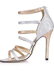 Women's Sandals Summer Comfort Synthetic Wedding Party & Evening Dress Stiletto Heel Rose Gold