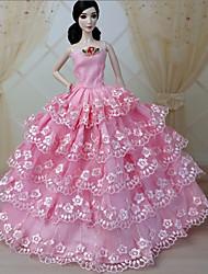 Barbie Doll Pink Wedding Organza/Lace Dresses Dresses