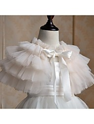 Kids Wraps Capelets Tulle Champagne/Fuchsia