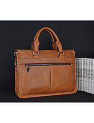bolso de hombro de cuero de piel de vaca maletín hombres clásicos, estilo de negocios bolsa de ordenador portátil fashional