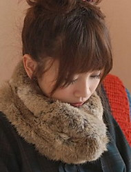 Women Lovely Fashion Classic Rabbit Fur Collar Scarf