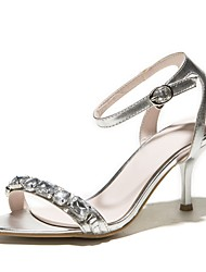 Women's Shoes Leatherette Stiletto Heel Open Toe Sandals Office & Career/Dress Yellow/Pink/Silver