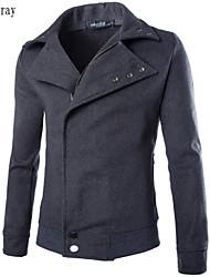 casuale colore del cappotto giacca di lana abbottonatura uomini