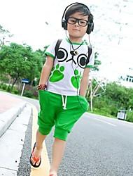 Boy's Carton Stretchy Thin Sleeveless Clothing Set of 2pcs(Cotton)
