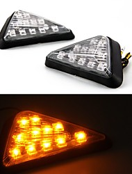 Universal Motorcycle Triangle Turn Signal Indicator Light Bulbs Lamps (2 Pcs)