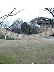 "New Arrival Wedding  Hessian Burlap ""LOVE IS SWEET"" Banner Bunting"