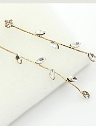 Drop Earrings Crystal Rhinestone Gold Plated 18K gold Simulated Diamond Fashion Gold Jewelry 2pcs