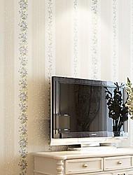 nouvelle rainbow ™ peint floral contemporain mur fleur bleue couvrant art mural non-tissé de tissu