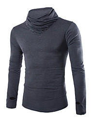 Katoen - Effen - Heren - T-shirt - Informeel