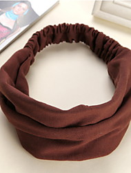 Women Han Editio Cotton Yoga Wide-brimmed Elastic Wash Facial Mask Headband