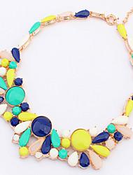 partysu moda jazlyn® gotas collar de bolas de colores de piedras preciosas de las mujeres para el regalo