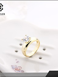 Statement Rings Zircon Cubic Zirconia Platinum Plated Simulated Diamond 24K Plated Gold Fashion Gold Silver Rose Gold JewelryWedding