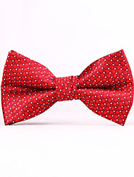 Red Wave Point Men Bow Ties