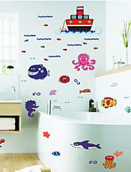 parque temático Sea World para crianças no jardim de infância das crianças de parede decoração sala de adesivos