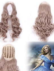 New Cosplay Long Curly Gray Wig Cinderella