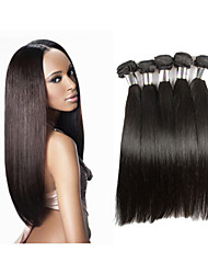 "3pcs/lot 8""-34""Peruvian Virgin Hair Straight Human Hair Weave #1B 300g Peruvian Straight Hair Bundles Extensions"