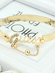 XIXI Women's The Newest Fashion Casual Gold Plated/Rhinestone Chain Bracelet