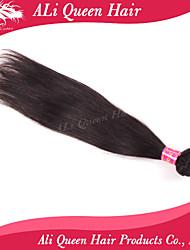 Ali Queen Hair products 6A Brazilian Virgin Hair Staight Natural Black Hair 1pcs/Lot 100% human hair extensions