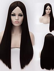 European And American High-Quality High-Temperature Black Silk Long Straight Hair wig Fashion Girl Necessary