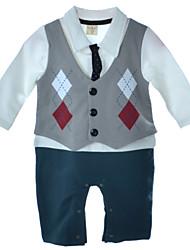 BHL Baby Boy Gentleman Clothes 0-18 Months Baby Boys Romper Infant Boy Long Sleeve Climb Clothing Jumpsuit