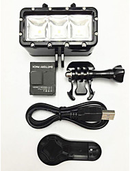 Accessori per GoPro,LED Spot Montaggio LED, Per-Action cam,Gopro Hero1 Gopro Hero 2 Gopro Hero 3 Gopro Hero 3+ GoPro Hero 5 Gopro 3/2/1