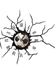 pag®morden 3D-Effekt kühlen Fußball Wanduhr 15.98 * 15.75 inch / 40.6 * 40cm