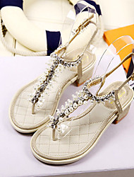 Women's Shoes  Low Heel Ankle Strap Sandals Casual Black/Gold