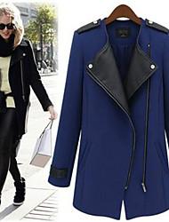 NUNEU   Women's Bodycon Bateau Long Sleeve Coats & Jackets (Tweed)