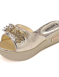 Women's Shoes Wedge Heel Comfort Sandals Outdoor Silver/Gold