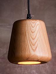Pendant Light 1 Light Rustic Painting Wood
