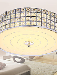 Round Chandeliers Crystal Living Room LED Absorb Dome Light Diameter 50CM Contains 6 LED Bulbs