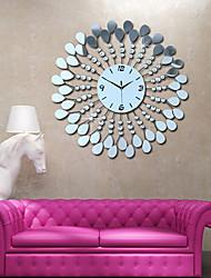 miroir mural fleur ps style moderne horloge