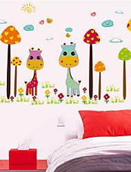 giraffa colore adesivi murali vivaio camera adesivi decorativi bambini