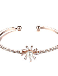 Sjeweler Lady's Pearl Rose Gold Bracelet Bangle