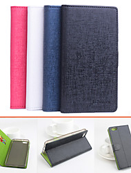 For Huawei Case Card Holder / with Stand / Flip Case Full Body Case Solid Color Hard PU Leather Huawei Huawei Honor 4X