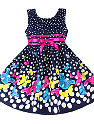 Girls Fashion Dot Butterfly Two Layers Party Pageant Princess Kids Clothing Dresses