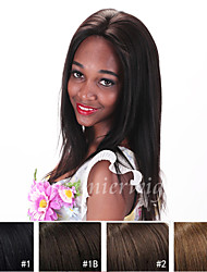 Top Quality 12''-22'' Yaki Brazilian Virgin Remy Human Hair Wigs Lace Front Wigs With Baby Hair For Black Women