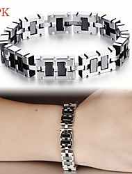 OPK®Black Gallstone Anti-radiation Anti-fatigue Stainless Steel Men Care Bracelet