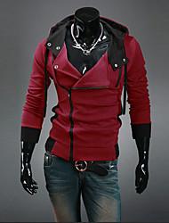 Informell Asymmetrisch - Langarm - MEN - Pullover mit / ohne Mützen ( Acryl/Organische Baumwolle )