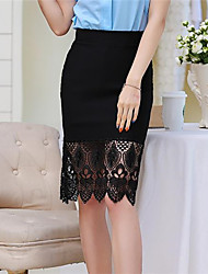 Women's Cotton Solid Color Stitching Fashion Skirts