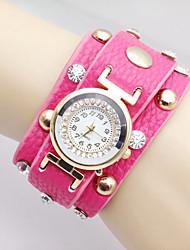 femmes regardent bracelets bohème rivet ronde montre en cristal de la mode
