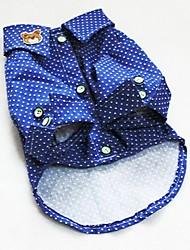 Dog Shirt / T-Shirt / Shirt / Clothes/Clothing Blue Summer Jeans / Polka Dots
